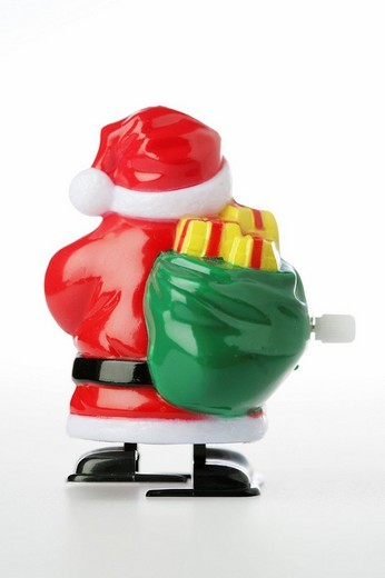 Plastic Santa Claus wind_up toy : Stock Photo