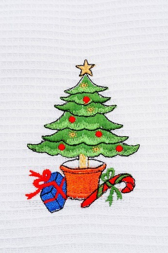 Stock Photo: 1848-212030 Christmas motif on a cloth