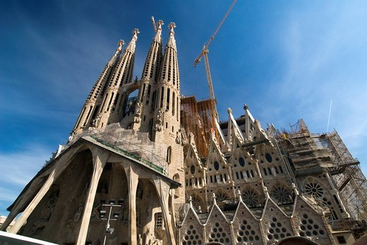 The Sagrada Familia Basilica in Barcelona, Spain, Europe : Stock Photo