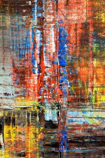 Skyscrapers of Manhattan, New York, abstract acrylic painting, artist Gerhard Kraus, Kriftel, Germany : Stock Photo