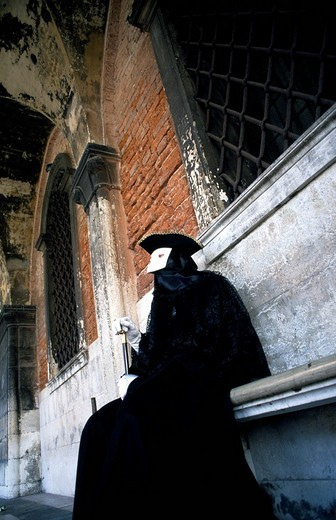 Stock Photo: 1848-213891 Carnival mask, Doge´s Palace, Venice, Venetia, Italy, Europe