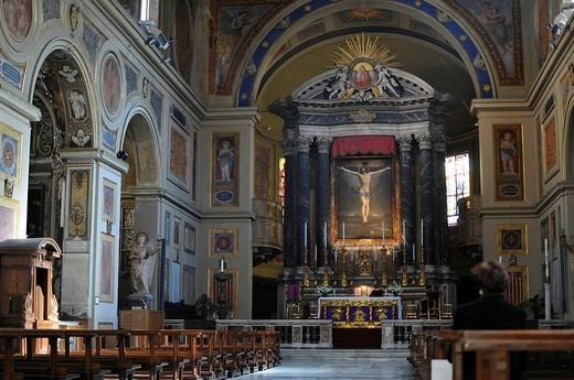 San Lorenzo in Lucina Church, historic centre, Rome, Italy : Stock Photo