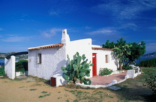 Stock Photo: 1848-214364 Bungalow of Acapulco Camping, Palau, Sardinia, Italy, Europe