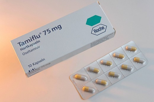 Tamiflu flu medicament from the Swiss company Roche : Stock Photo