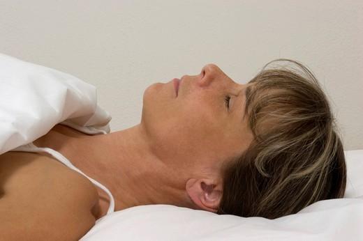 Sleeping woman : Stock Photo