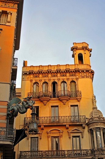 Historic building, historic centre of Barcelona, Catalonia, Spain, Europe : Stock Photo