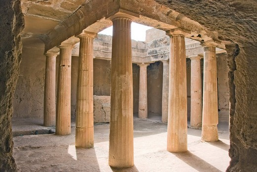 Royal graves, peristyle graves, Paphos, Cyprus : Stock Photo