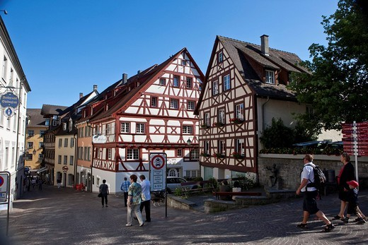 The old town of Meersburg on Lake Constance, administrative region Tuebingen, Bodenseekreis district, Baden_Wuerttemberg, Germany, Europe : Stock Photo