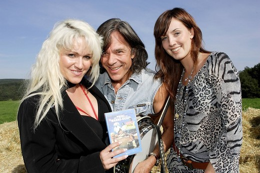 Surprise party for german pop singer Juergen Drews, Sabrina Lange, Juergen Drews, Jessica Franz : Stock Photo