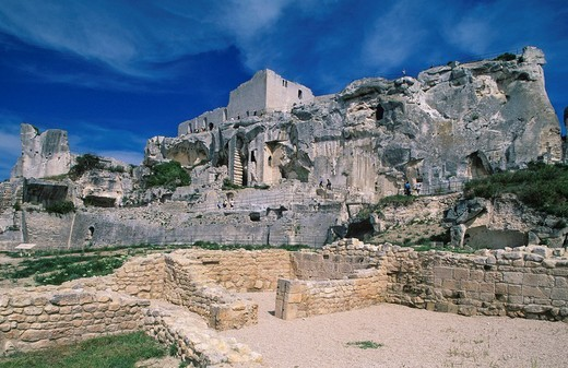 Stock Photo: 1848-218901 Ruins of Les Baux de Provence, Provence, France