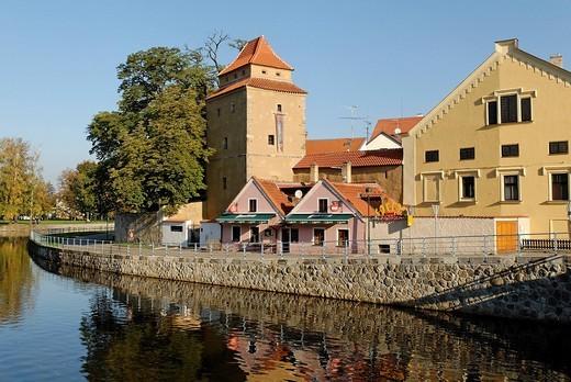 Stock Photo: 1848-218984 Historic old town of Ceske Budejovice, Budweis, Budvar, south Bohemia, Czech Republic