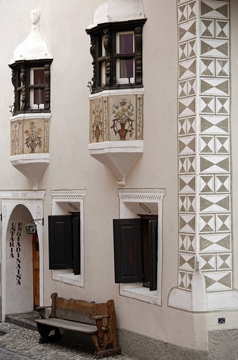 Stock Photo: 1848-21981 Engadin house, Scuol, Schuls, Upper Engadin, Grisons, Switzerland