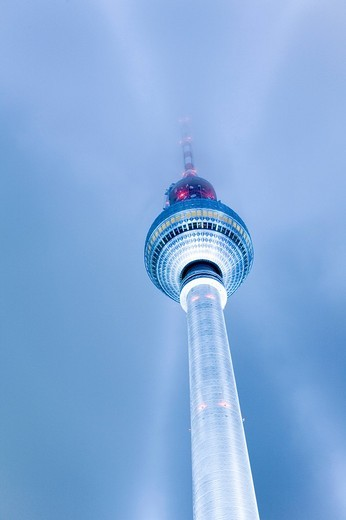 Stock Photo: 1848-220544 Television Tower, Festival of Lights 2009, Berlin, Germany, Europe