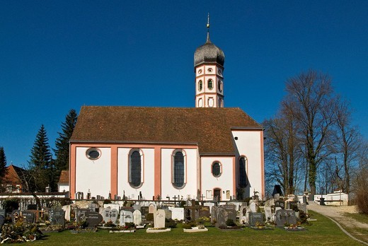 Stock Photo: 1848-221320 Beuerberg Monastery and Church, Beuerberg, Bavaria, Germany, Europe