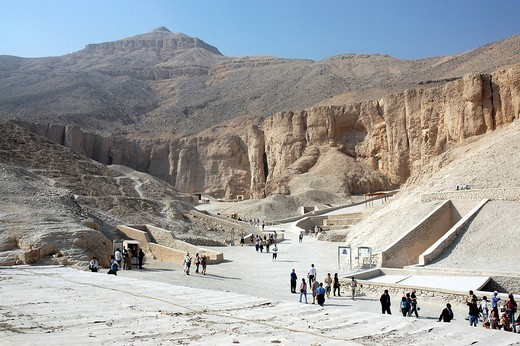Valley of the Kings, West Thebes, Egypt, Africa : Stock Photo