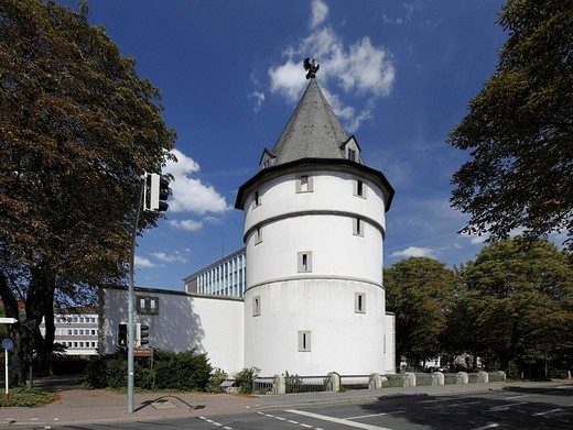 Stock Photo: 1848-222559 Reconstruction of the historic Adlerturm Tower, Museum of the town history, Dortmund, North Rhine_Westphalia, Germany, Europe