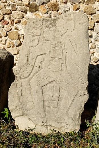 Stock Photo: 1848-222719 Danzante, Monte Alban, Oaxaca, Mexico