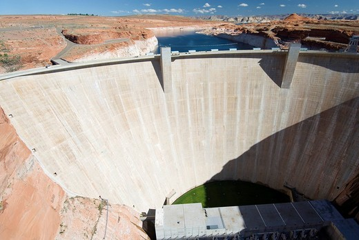 Glen Canyon Dam, Arizona, USA : Stock Photo