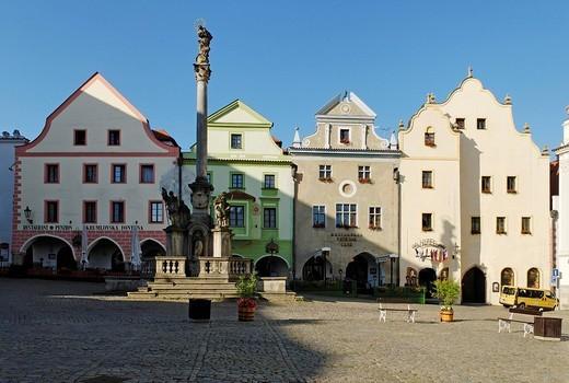 Stock Photo: 1848-222863 Historic old town of Cesky Krumlov, south Bohemia, Czech Republic