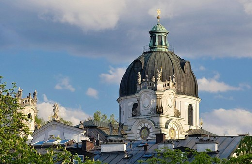Kollegienkirche Church and dome, Salzburg, Austria, Europe : Stock Photo