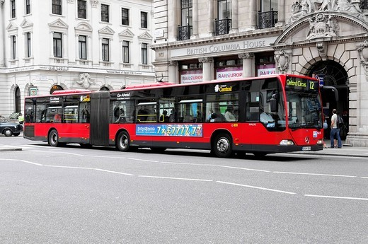 New buses in service, Oxford Circus, London, England, United Kingdom, Europe : Stock Photo