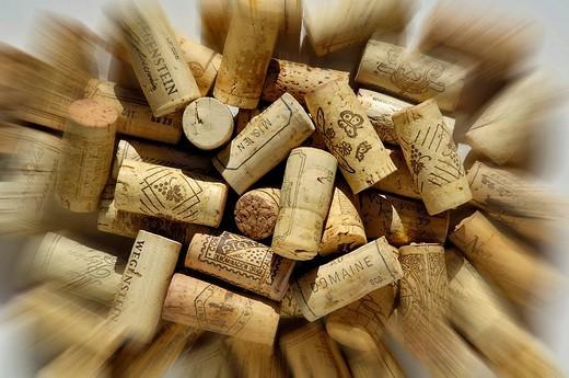 Corks of wine bottles : Stock Photo
