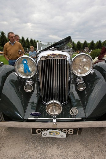 Lagonda LG 45, GB, vintage car meeting, Schwetzingen, Baden_Wuerttemberg, Germany : Stock Photo