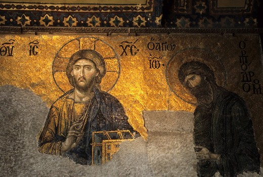 Stock Photo: 1848-225001 Hagia Sophia, Mosaic, Istanbul, Turkey