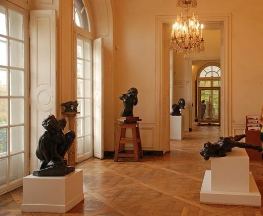 Interior Rodin Museum Paris France : Stock Photo