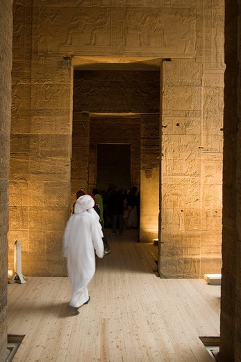 Temple of Isis, Inner Sanctuary of Isis, Philae or Agilkia Islands, Aswan or Assuan, Nile Valley, Egypt, Africa : Stock Photo