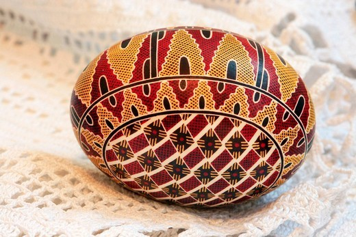 Romanian Easter egg, pysanka egg : Stock Photo