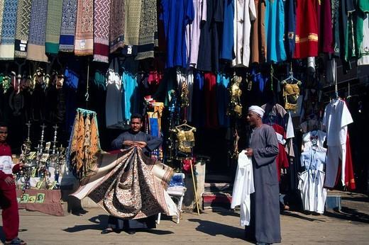 Souvenirs for sale at a bazaar, Aswan, Egypt : Stock Photo