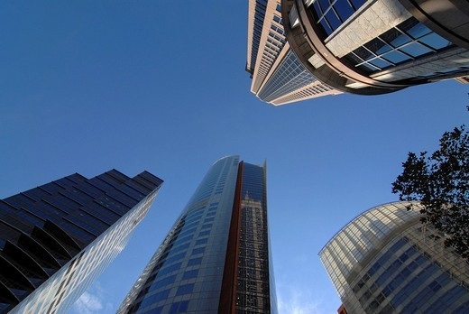 Stock Photo: 1848-22701 Skyscrapers in front of a blue sky, Sydney, New South Wales, Australia