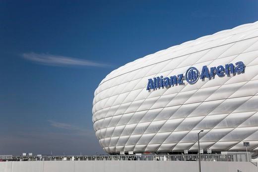 Allianz_Arena, Munich, Bavaria, Germany : Stock Photo