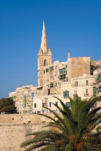 Stock Photo: 1848-229475 Church, St. Pauls, Valletta, Malta, Europe