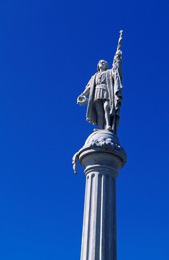 Stock Photo: 1848-22988 Columbus column, historic city centre, San Juan, Puerto Rico, Caribbean