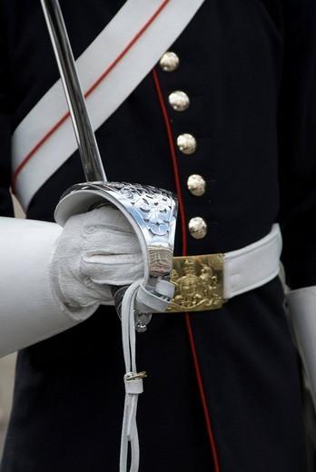Stock Photo: 1848-229966 British royal guard, London, United Kingdom