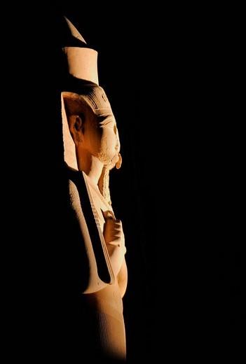 Statue of Ramses II, Karnak Temple, Nile Valley, Luxor, Egypt, Africa : Stock Photo