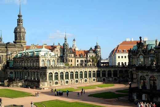 Stock Photo: 1848-230587 Zwinger residence castle Dresden Saxony Germany