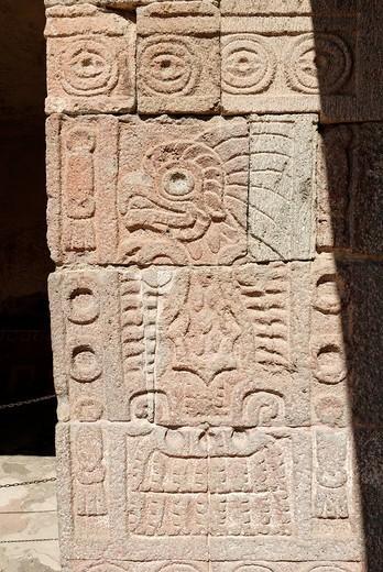 Palacio de Quetzalpapalotl, Teotihuacan, Mexico : Stock Photo