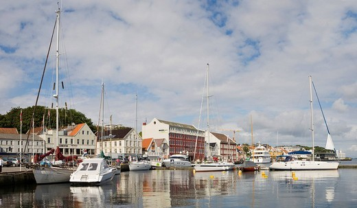 Sailboats in the harbour at Stavanger European Capital of Culture 2008, Norway, Europe : Stock Photo