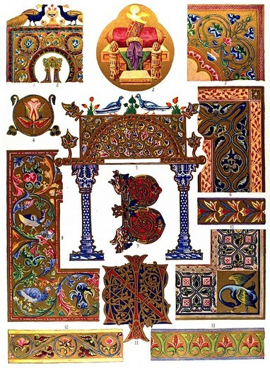 Stock Photo: 1848-231849 Byzantine miniature painting, Middle Ages, Byzantine ornament