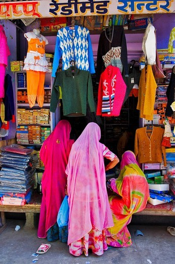 Indian clothing store, North India, India, Asia : Stock Photo