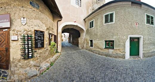 Old town of Duernstein, Wachau Region, Lower Austria, Austria : Stock Photo