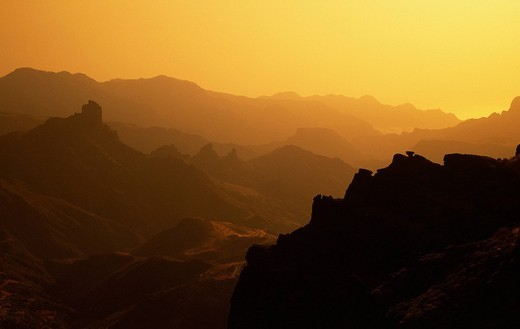 View at the Roque Nublo, Gran Canaria, Canary Islands, Spain : Stock Photo
