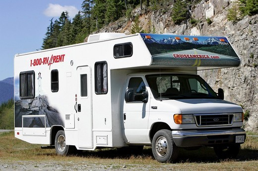 Motor home on Vancouver Island, British Columbia, Canada : Stock Photo