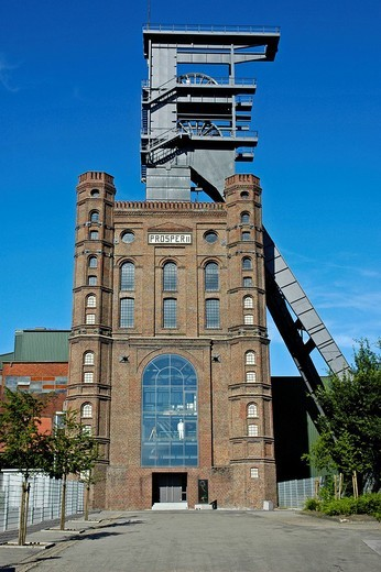 Stock Photo: 1848-234013 Malakow tower of the mine Prosper Haniel, Bottrop, Ruhr area, North Rhine_Westphalia, NRW, Germany