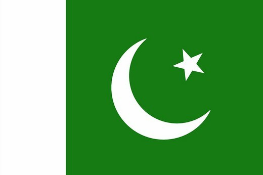Stock Photo: 1848-235051 The flag of Pakistan _ graphic