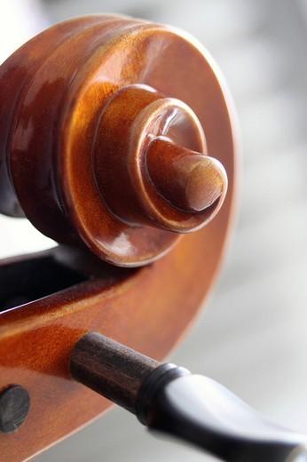 Stock Photo: 1848-236164 Violin scroll, close_up
