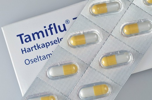 Tamiflu, flu drug by the Swiss company Roche : Stock Photo